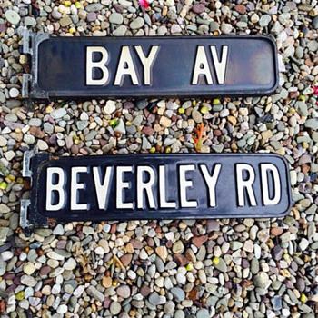 1950s Brooklyn, N.Y. porcelain street signs