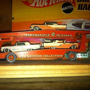 Matchbox Thunderbirds on a Matchbox Auto Carrier