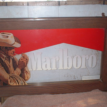 Lighted Marlboro sign