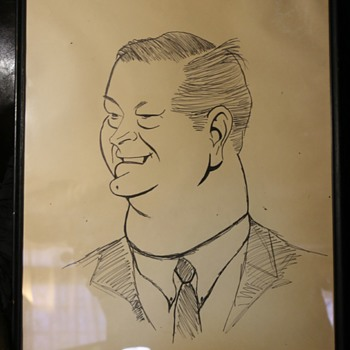 Large Caricature Drawing - old - Visual Art