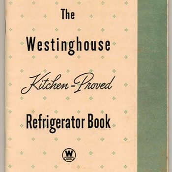1937 - Electric Refrigerator Recipes (Westinghouse) - Books