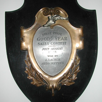 1928 Good Year Tire Sales Award