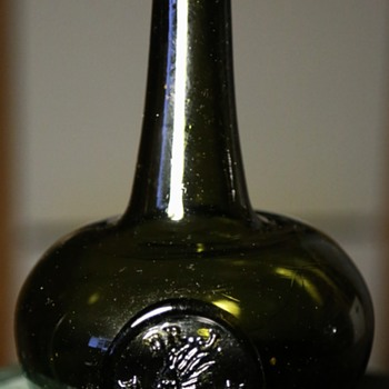 Dr J Fogworth - Interesting hand-blown onion bottle