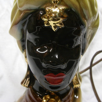 African lady head lamp