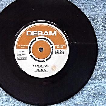 1966-pop groups-the move-'night of fear'-45 rpm single. - Records