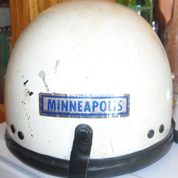 Vintage Motorcycle Cop Helmet - Motorcycles