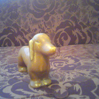 Rookwood Dachshund Figurine 6172 - Art Pottery