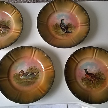 Great-Grandma's Plates, Franz Anton Mehlem, Bonn Germany - Art Pottery