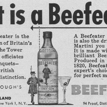1953 Beefeater Gin Advertisement