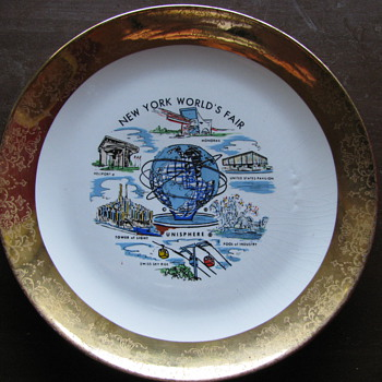 1961 World Fair Plate