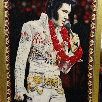 VINTAGE ELVIS PRESLEY CLOTH ARTWORK