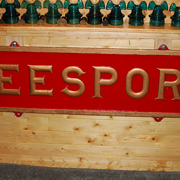 Pennsylvania Railroad Station Sign from Leesport, PA - Railroadiana
