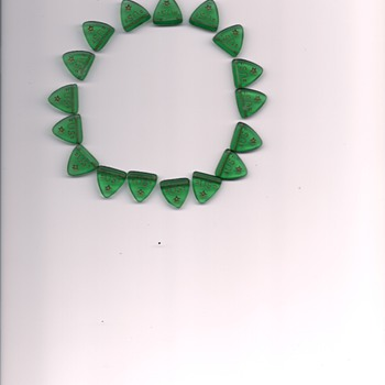 Green Glass Beads - Art Glass