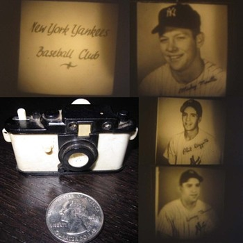 vintage dime store plastic viewers  - Baseball
