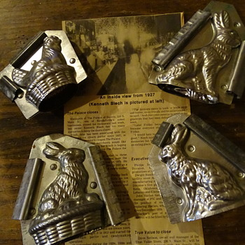 Antique Easter chocolate molds