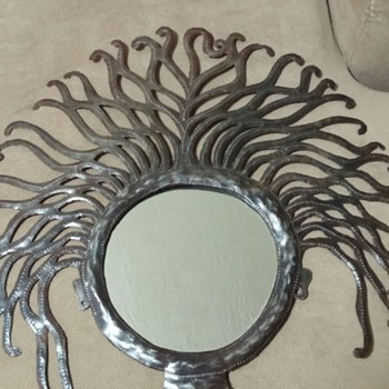 John Sylvestre Haitian Recycled Steel Drum Art with mirror. - Visual Art