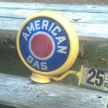 American Gas Pump Globe - Petroliana