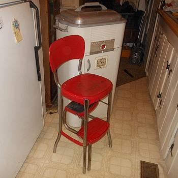 Vintage Cosco Folding Kitchen Stool - Furniture