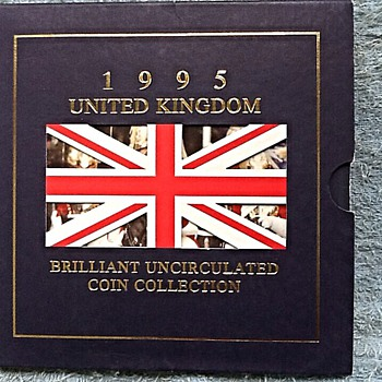 1945-1995, end of ww2-50th anniversary coin set.