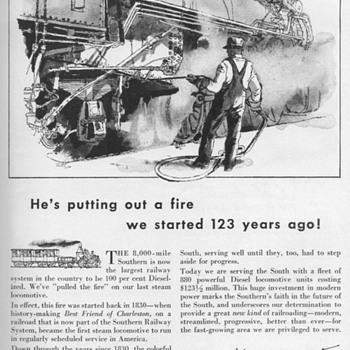 1953 - Southern Railway Advertisement