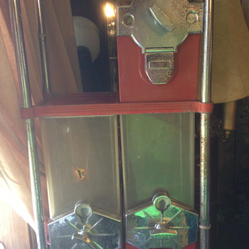 Beaver Mark I Candy Vending Machines with Red 1940's S stand