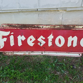 Firestone metal sign