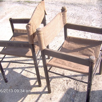 Two Antique  Wood&Iron Director Chairs - Furniture