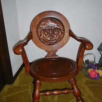 Monk rocking chair