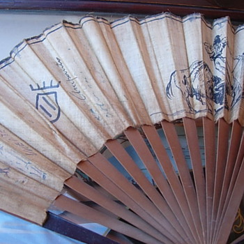 30s-50s Autographed Souvenir Fan - Accessories