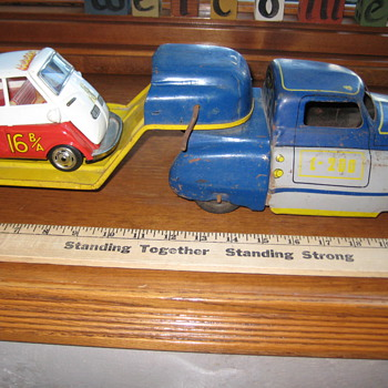 Toy Truck, Trailer and little Car - Toys