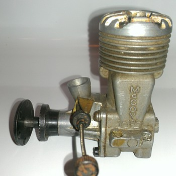 Vintage model airplane engine