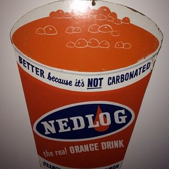 Vintage Nedlog Orange Sign - Signs