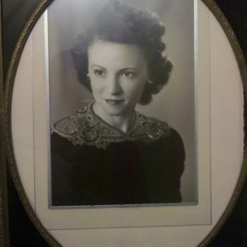 stunning photo of my great Aunt Irene in Deco frame - Photographs