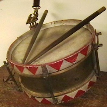 Original WW II German Youth Snare Drum with Sticks and Hanger