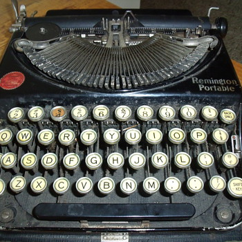 Remington Portable Typewriter-Vintage