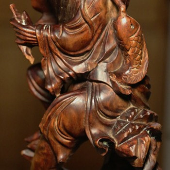 Chinese Hardwood Carving - Asian