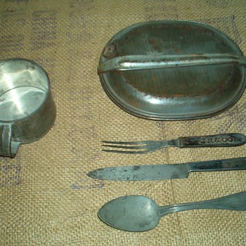 Indian Wars & Spanish American War Era M1874 Mess Kit & Utensils