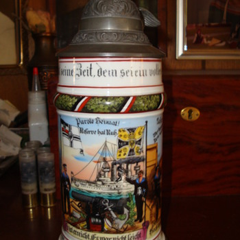 Imperial German Reservist's Stein of a sailor on the SMS Drache, 1908-11 - Breweriana
