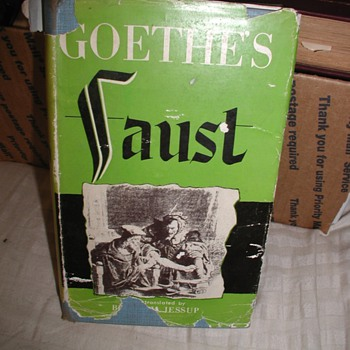 Is my version of Goethe's Faust Translated by Bertram Jessup a 1st Edition / 1st Printing?