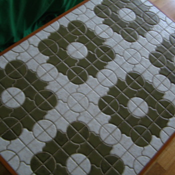 My 70s Green-tiled coffee table - Furniture