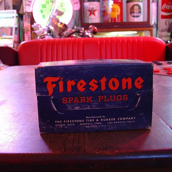 Firestone Spark Plugs...Never Used...Box Of Ten...Dated Oct. 26. 1949