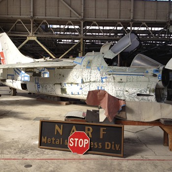 A7 Corsair in Abandoned WW2 Hangar, Alameda NAS - Military and Wartime