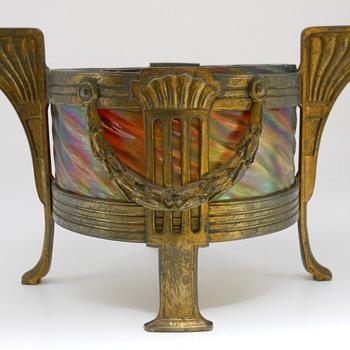 "Art Deco""Rindskopf "" Pepita, Brass Mount Center piece, Circa 1900"