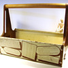 Vintage Craftsman Metal Tool Carrier with Reference Guides
