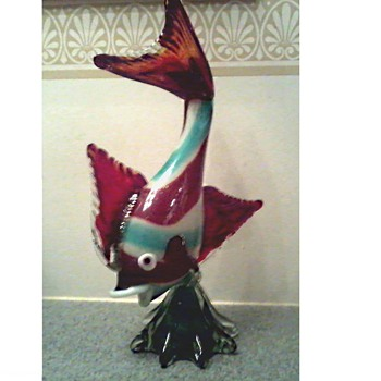 Whimsical Art Glass Fish / Unknown Maker and Age