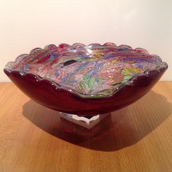 ARTE VETRARIA MURANESE - TUTTI FRUTTI BOWL - Art Glass