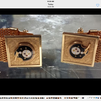 STEELERS CUFF LINKS