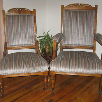Mr & Mrs Chairs Charles Eastlake??