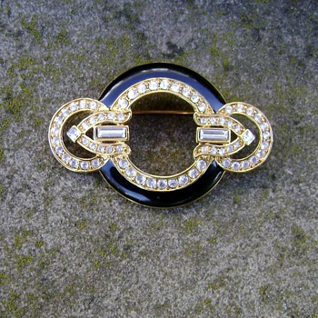 Enamel Brooch - Costume Jewelry