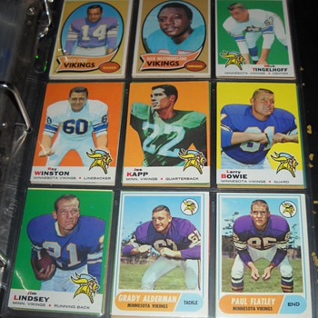 Skol Vikings! 1961-70 Viking cards - Football